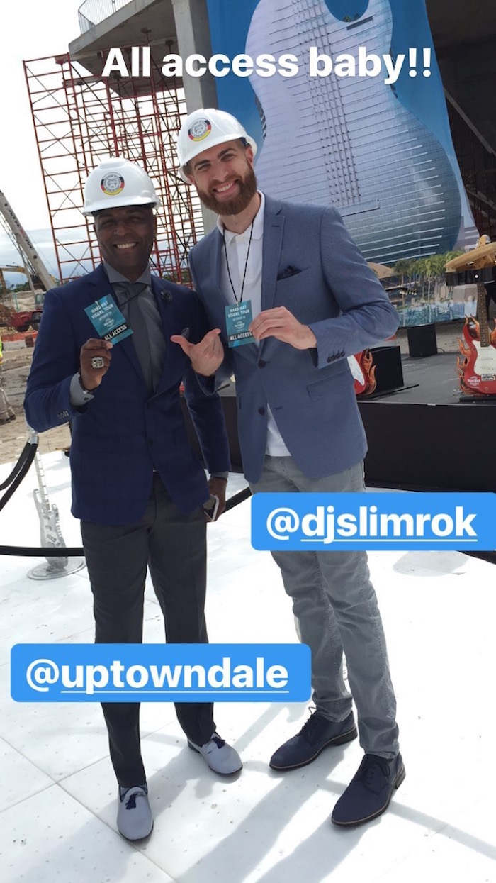 DJ Slim Rok and Mc Dale at the Seminole Hard Rock Hotel & Casino