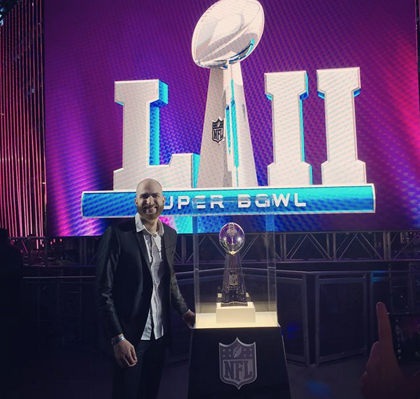 DJ Slim Rok at the Super Bowl LII