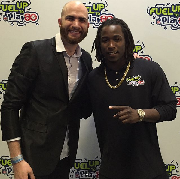 DJ Slim Rok and Kareem Hunt from the KC Chiefs