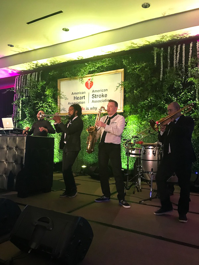 DJ Dean Michaels and Fusion performing at a corporate event for The American Heart Association at The Ritz-Carlton Fort Lauderdale