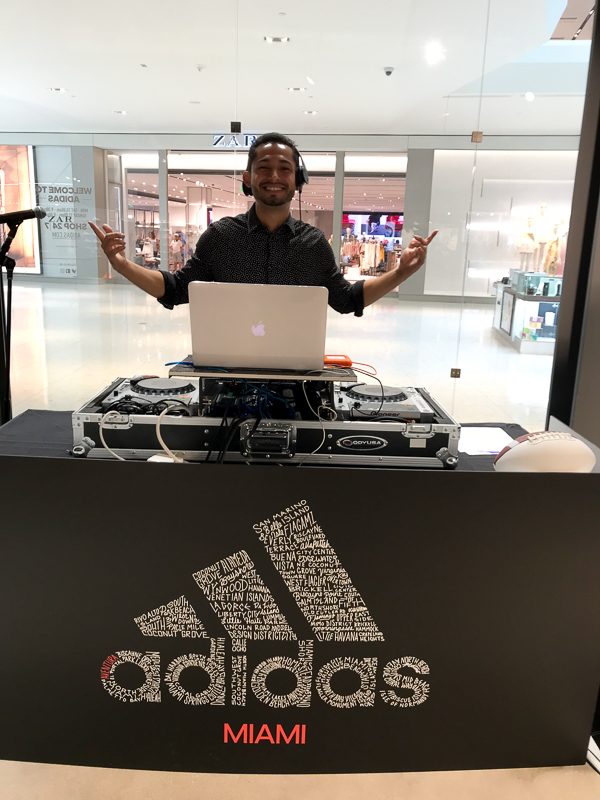 DJ AXR at the grand opening of the Adidas Store at Aventura Mall!