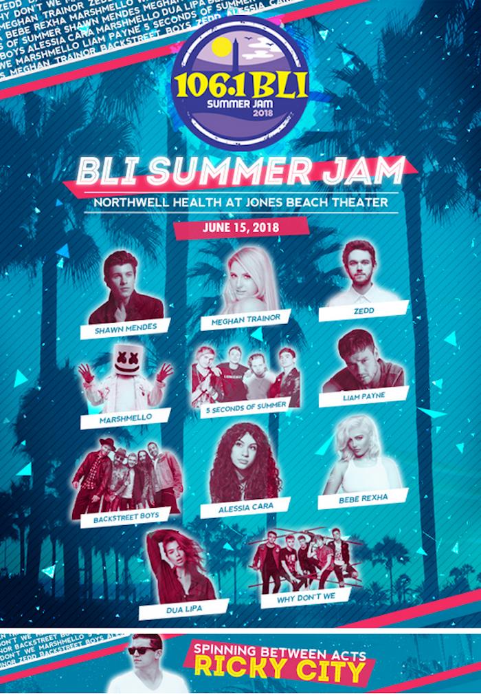 DJ Ricky City performing at the Bli Summer Jam 2018