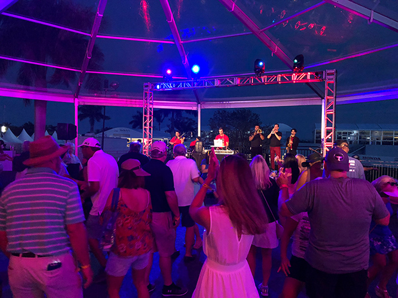 DJ Ross B & Fusion on stage for The Honda Classic 2019 at PGA National Golf Club