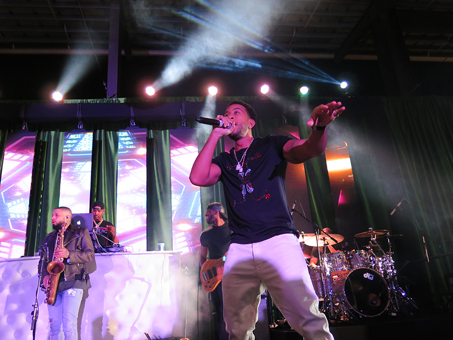 Ludacris performing at the Houston Astros End of Spring Training Party