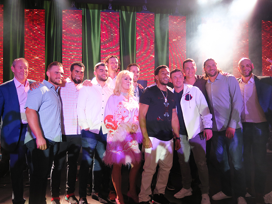 Ludacris and the Houston Astros alongside Whitney and Jim Crane at the Houston Astros End of Spring Training Party