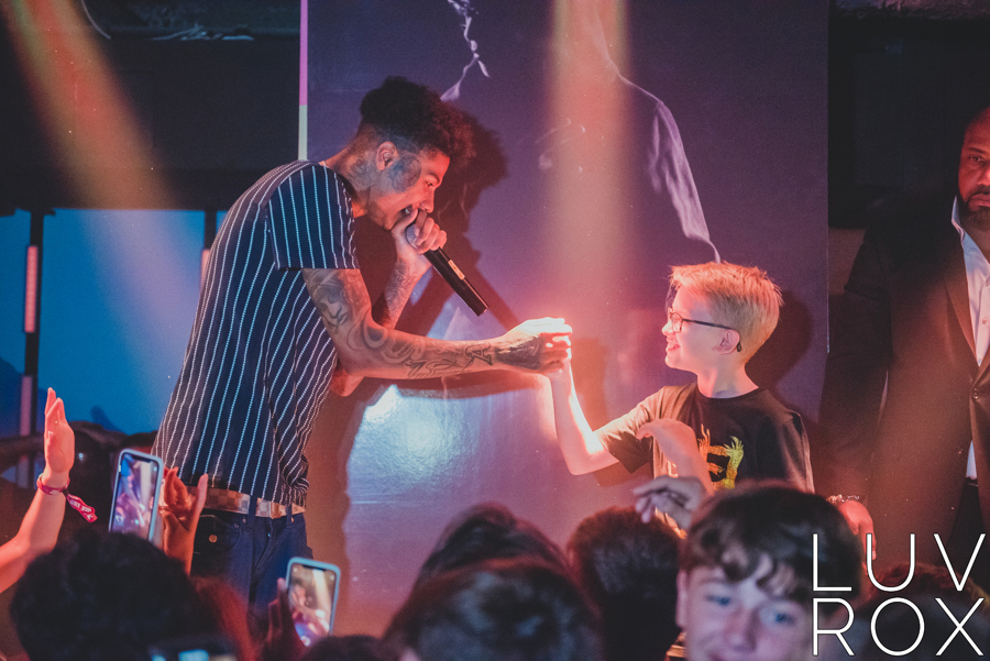 Blueface Performing at Basement for a Concert Mitzvah