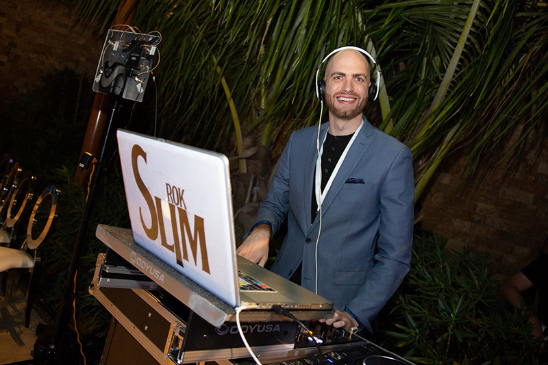 DJ Slium Rok at the grand opening The Guitar Hotel at Seminole Hard Rock
