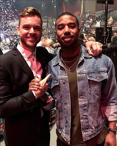 Ross B and Michael B Jordan at the grand opening of Hard Rock Atlantic City